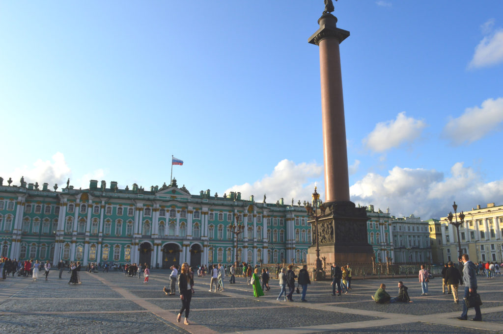 Plaza del Palacio al atardecer