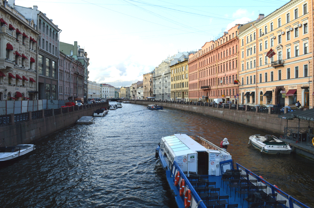 Barcos en San Petersburgo