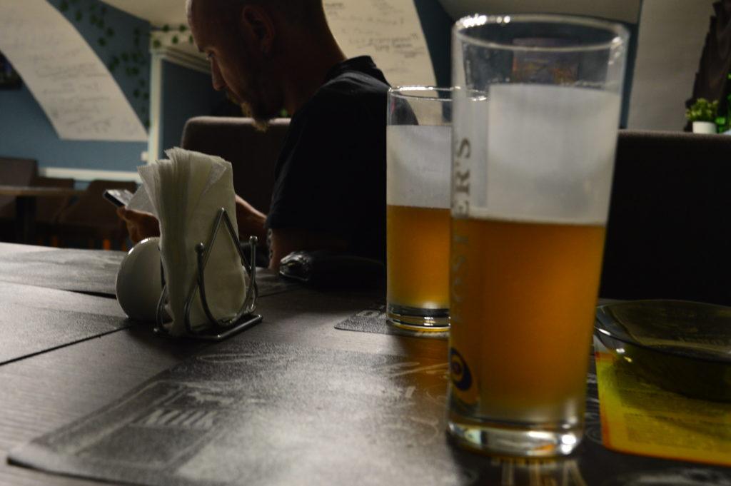 Cervezas en San Petersburgo