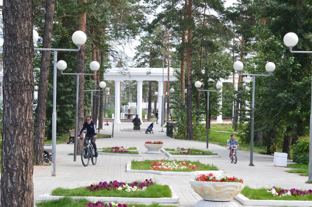 En el Parque Oreshkovo