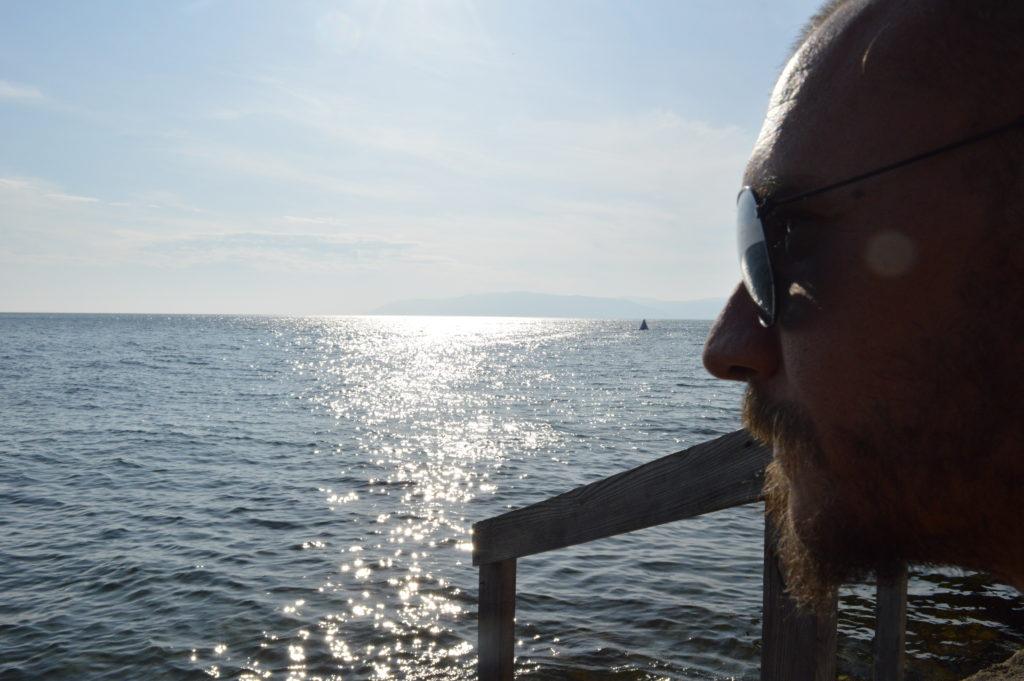 Tomás González Ahola en Lago Baikal