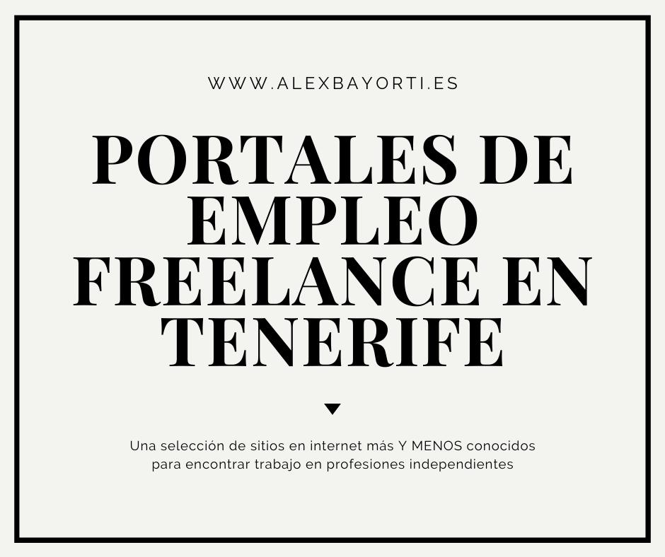 Portales de empleo freelance en Tenerife
